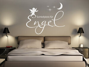 wandtattoo wandsticker spr che schlafplatz f r engel wohnzimmer wand tattoos ebay. Black Bedroom Furniture Sets. Home Design Ideas