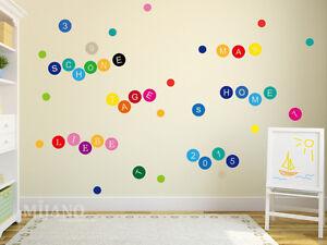 wandtattoo wandsticker wandaufkleber bunte buchstaben a z. Black Bedroom Furniture Sets. Home Design Ideas