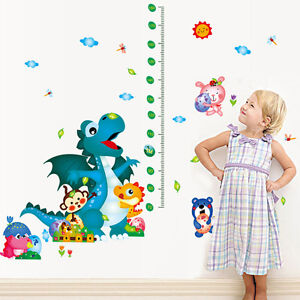 wandtattoo wandsticker xxl deko tier kind messlatte wald drachen kinderzimmer ebay. Black Bedroom Furniture Sets. Home Design Ideas