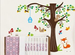 wandtattoo zooyoo wald sticker dschungel kinderzimmer xl ebay. Black Bedroom Furniture Sets. Home Design Ideas