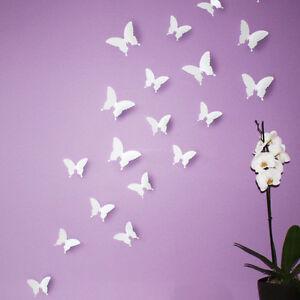 Wandtattoos-Wandsticker-Wanddekos-SCHMETTERLINGE-Blume-Pflanzen-Wandtatoos-Neu