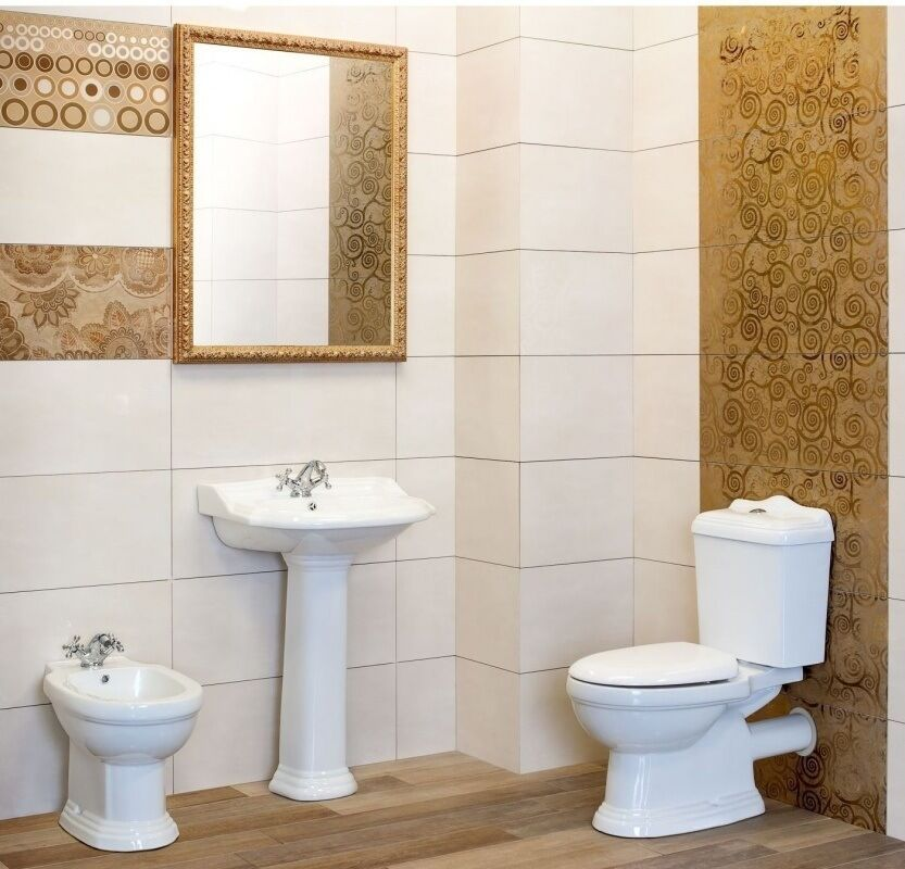 waschbecken keramik retro inkl s ule stand wc retro stand bidet komplett ebay. Black Bedroom Furniture Sets. Home Design Ideas