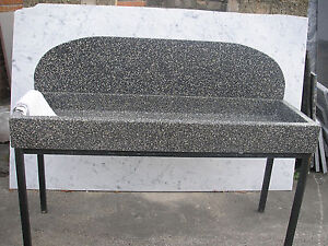 waschbecken sp lbecken sp lstein aus terrazzo in in l bbecke ebay. Black Bedroom Furniture Sets. Home Design Ideas