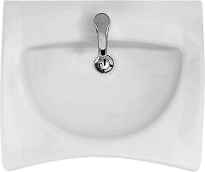 waschtisch waschbecken 65 cm unterfahrbar barrierefrei sifon eckventile ebay. Black Bedroom Furniture Sets. Home Design Ideas