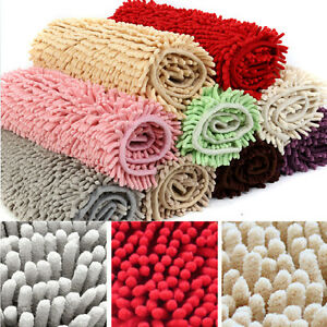 Bathroom Carpeting on Washable Bathroom Shaggy Rugs Non Slip Bath Mat Nine Colors Thick Shag