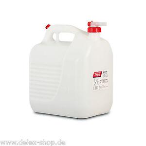 Wasserkanister-Wasserbehaelter-mit-Hahn-ohne-Gluckern-Kanister-10L-10-Liter-NEU