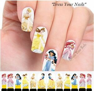 Water Decals - Princess Nail Wrap Sticker Transfer Disney Nail ...