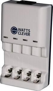 Watts-Clever-SBC1001Smart-Battery-Charger-Ladegeraet-fuer-normale-Batterien-Akkus