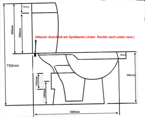 wc sp lkasten komplett set stand wc keramik inkl wc sitz. Black Bedroom Furniture Sets. Home Design Ideas