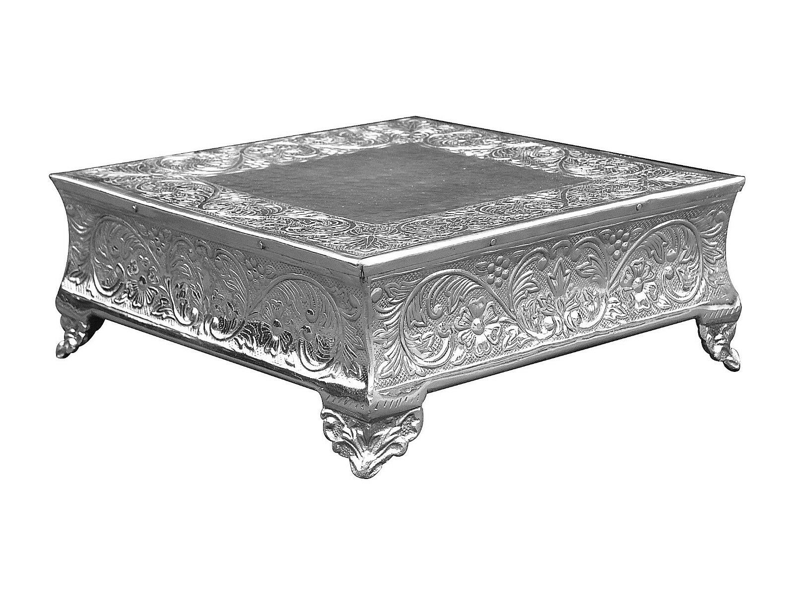 Silver Square Cake Stand Silver Wedding Cake Stand Square 16 X16