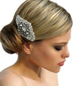 Wedding Vintage Inspired Bridal Hair Crystal Side Comb Brooch | eBay
