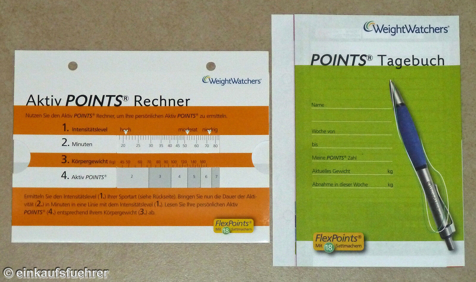 weight watchers aktiv points rechner tagebuch ebay. Black Bedroom Furniture Sets. Home Design Ideas