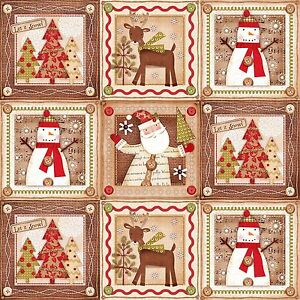 weihnachten 14 bilder holiday stitches panel patchwork. Black Bedroom Furniture Sets. Home Design Ideas