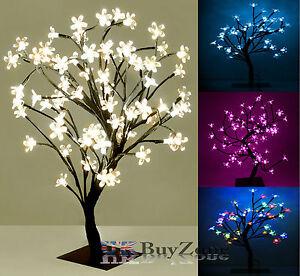 weihnachten led lampen vor beleuchtet kirschbl ten bonsai baum innen au en ebay. Black Bedroom Furniture Sets. Home Design Ideas