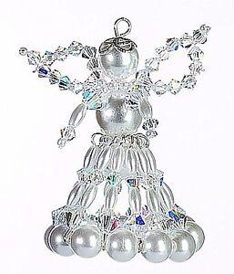 weihnachts bastel set aus perlen engel crystal 6 cm ebay. Black Bedroom Furniture Sets. Home Design Ideas