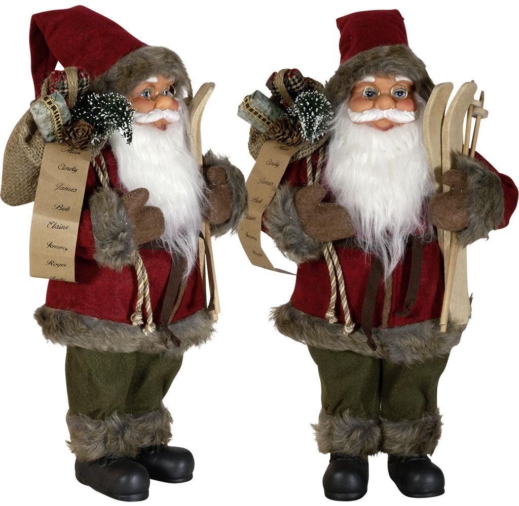Edelrost Weihnachtsmann Nikolaus 40cm