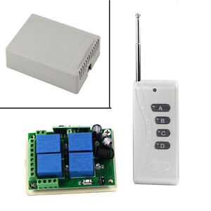 wei 12v 10a 4 channels wireless switch schalter mit fernbedienung 1000m 315mhz ebay. Black Bedroom Furniture Sets. Home Design Ideas