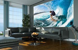 Wellenreiten surfer wanddekoration hawaii surfbrett xxl for Wandbild xxl wohnzimmer
