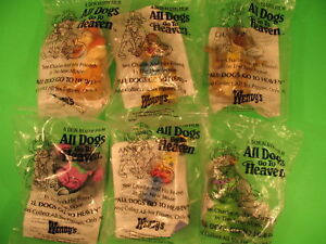 Wendy's 1989 All Dogs Go to Heaven set of 6 *MIP* in Toys & Hobbies, Fast Food & Cereal Premiums, Fast Food | eBay