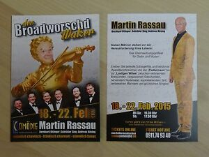 Werbepostkarte-Martin-Rassau-Comoedie-Fuerth-Broadworschd-Walzer-Postkarte