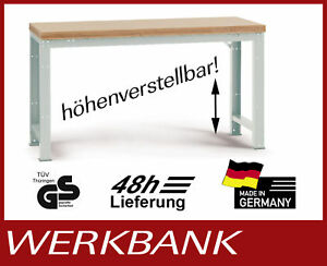 werkbank h henverstellbar platte kunststoff 1250x700 mm ebay. Black Bedroom Furniture Sets. Home Design Ideas