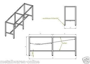 werkbankgestell typ b mit 6 f ssen verzinkt tisch gestell arbeitstisch werkbank ebay. Black Bedroom Furniture Sets. Home Design Ideas
