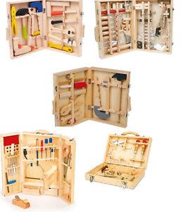 werkzeugkoffer holzwerkzeuge holz werkzeug werkzeugkasten werkbank kind ebay. Black Bedroom Furniture Sets. Home Design Ideas