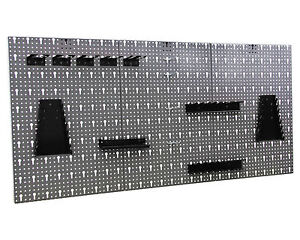 Werkzeugwand-Lochwand-mit-Hakensortiment-Werkstattwand-Werkzeughalter