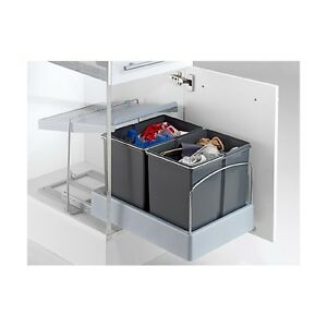 wesco automatic master boy einbau m lleimer 2x15 l ebay. Black Bedroom Furniture Sets. Home Design Ideas