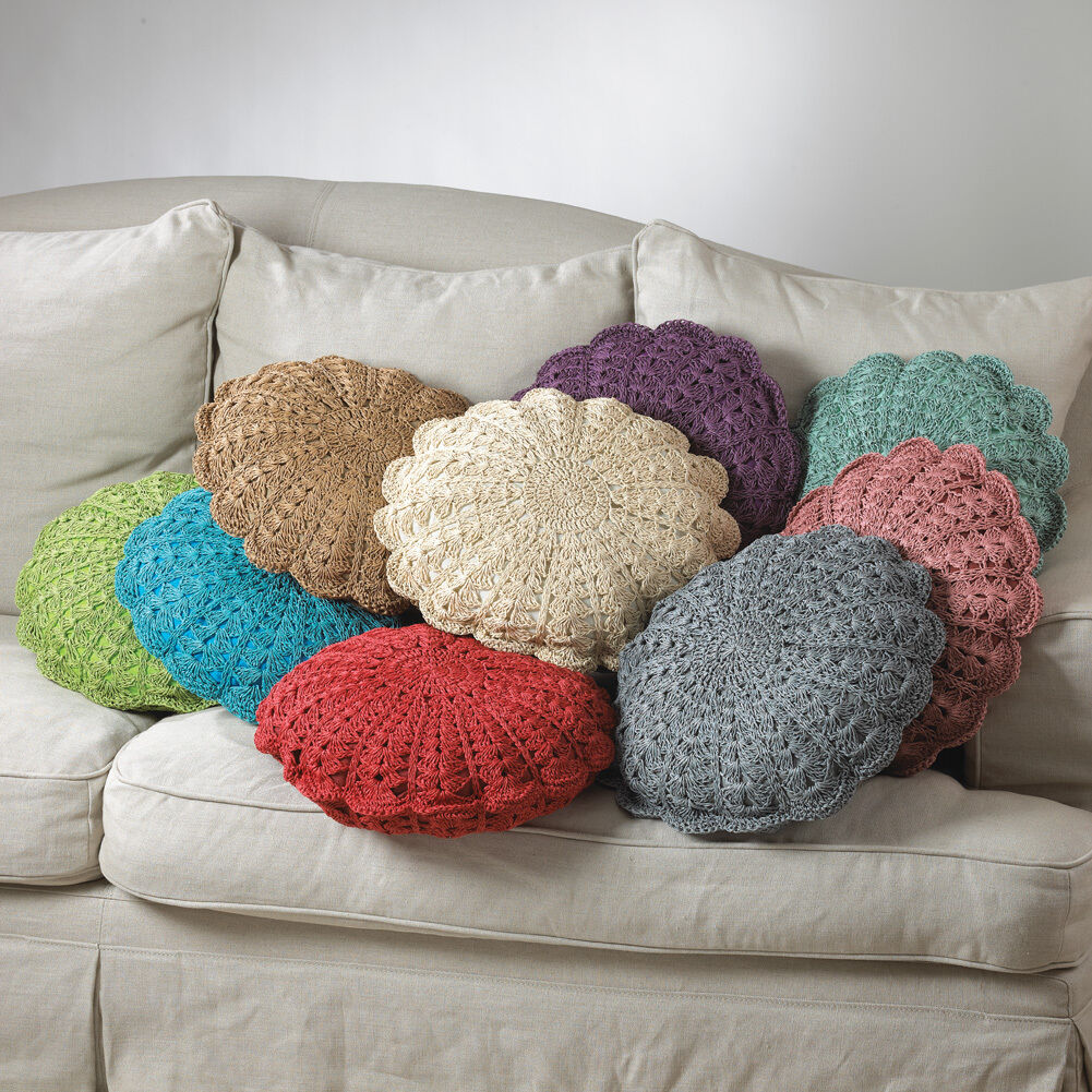 Crochet Pillow Patterns : West Palm Crochet Decorative Throw Pillow 18 Round 9 Colors