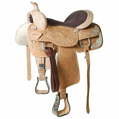 """Western Show Pleasure Trail Saddle Full QH Bars 16"""" or 17"""" Silver Detailing NEW in Pet Supplies, Horse Supplies   eBay"""