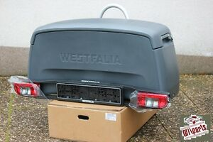 westfalia transportbox 350002600001 f r 60 fahrradtr ger neu ovp box ebay. Black Bedroom Furniture Sets. Home Design Ideas
