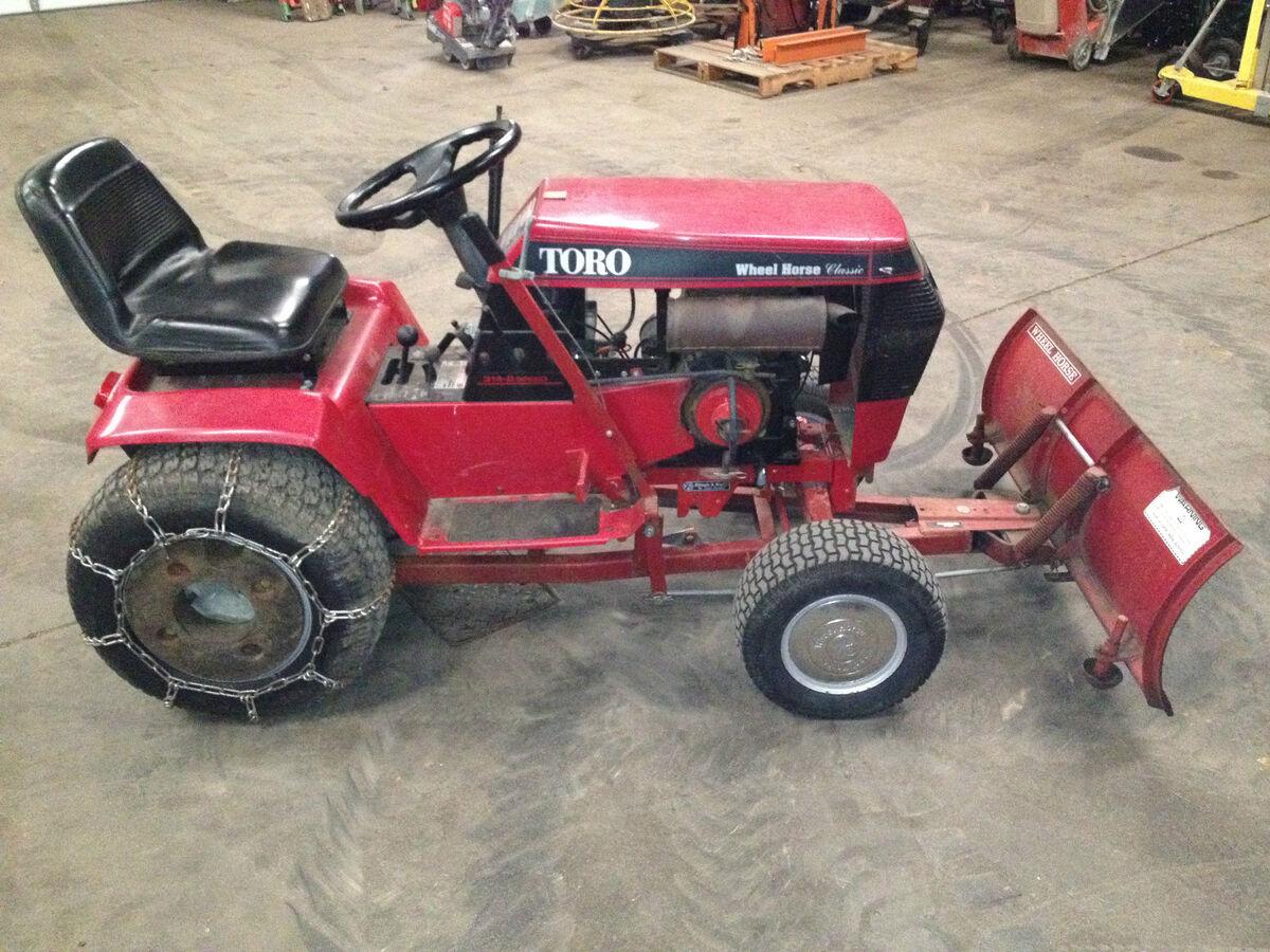 Wheel Horse 314 8 Tractor 48snow Plow No Mower Deck On