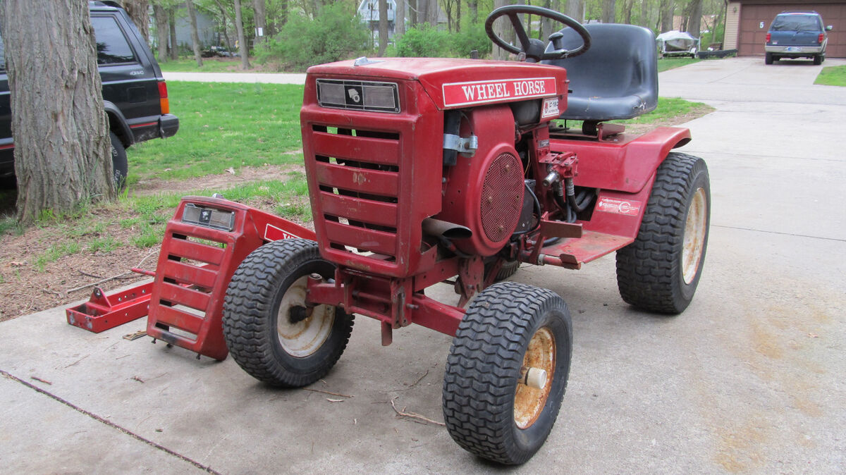 Wheel Horse C160 Automatic Lawn Garden Tractor With Kohler K341 And K341s Engine Diagram Hydro Lift