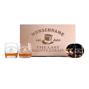 whiskygl ser in premiumbox mit pers nlicher gravur und. Black Bedroom Furniture Sets. Home Design Ideas