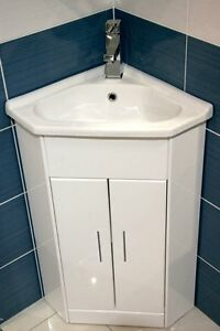 Small Corner Sink Unit : White-Compact-Corner-Vanity-Unit-Bathroom-Furniture-Sink-Cabinet-Basin ...