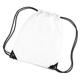 Tote bags for school - White Drawstring Tote Backpack Pe Gym Swim School Bag Ebay