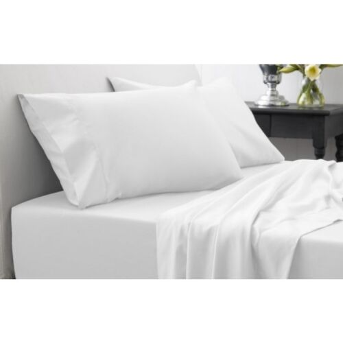 white new 12 39 39 deep fitted sheet small double size. Black Bedroom Furniture Sets. Home Design Ideas