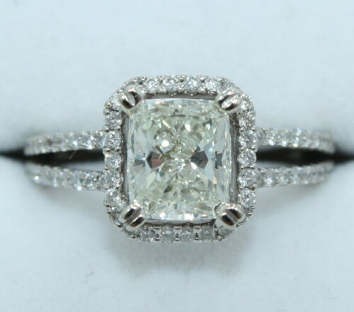 White Gold 1 62 Carat VS 2 J DIAMOND Engagement Ring 2 01 cttw WAS $10