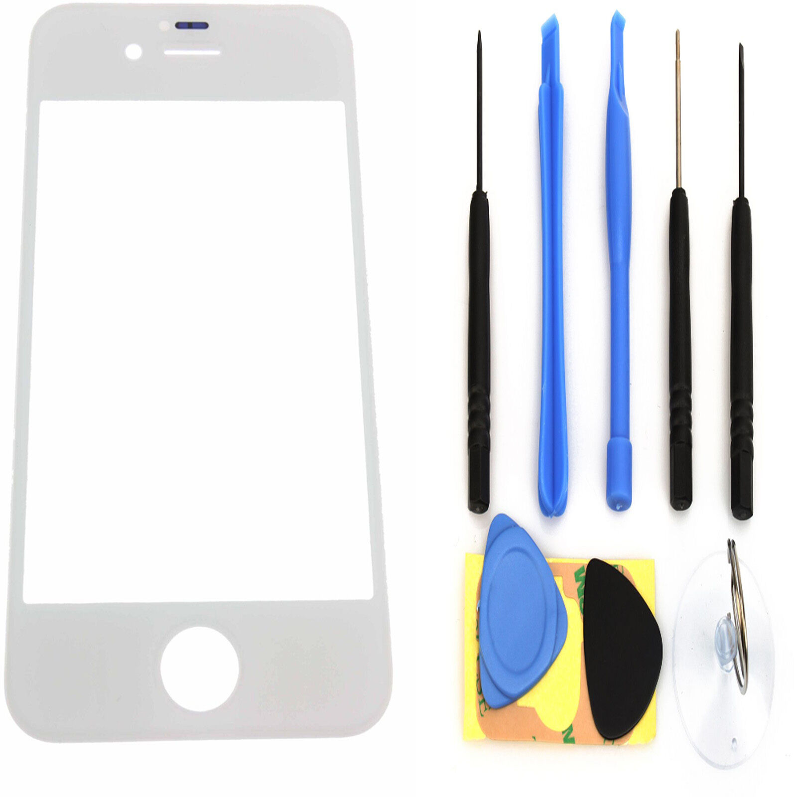 White Replacement Front Screen Glass Lens Cover for iPhone 4S White+ Tools 82180