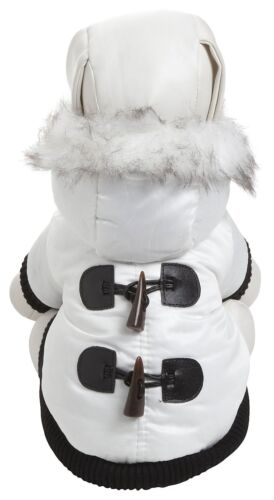 White 'Snow' Fashion Parka Dog Coat jacket in Pet Supplies, Dog Supplies, Apparel | eBay