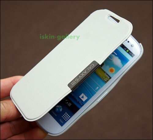 White luxury Flip Leather PU Case Cover For Samsung Galaxy S3 SIII+Gift in Cell Phones & Accessories, Cell Phone Accessories, Cases, Covers & Skins | eBay