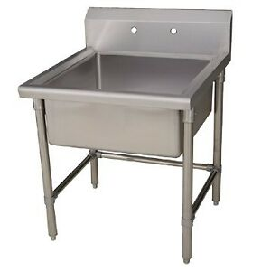 25 Stainless Steel Laundry Utility Sink w Adjustable Legs