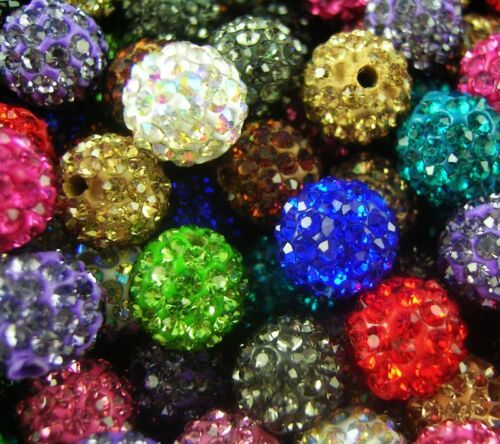 Wholesale 100pcs 10MM Mixed colors CZ Crystal Clay beads FOR Pave Disco Balls in Crafts, Beads & Jewelry Making, Beads, Pearls & Charms | eBay