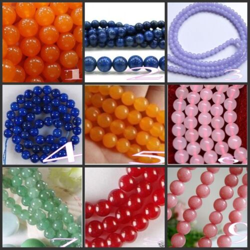 "Wholesale! Beautiful gemstone / Jade Round Gemstone loose beads 15 ""(4mm-10mm) in Crafts, Beads & Jewelry Making, Beads, Pearls & Charms | eBay"