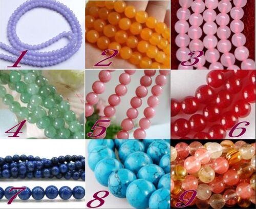 "Wholesale! Beautiful gemstone / Jade Round Gemstone loose beads 15 ""(4mm-12mm) in Crafts, Beads & Jewelry Making, Beads, Pearls & Charms | eBay"