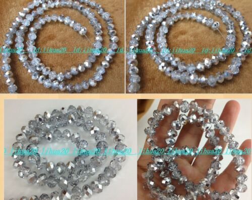 Wholesale ! Cute new silvery faceted Crystal Loose Beads 3--12mm Select 5 Size in Crafts, Beads & Jewelry Making, Beads, Pearls & Charms | eBay
