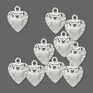 Wholesale lot silver heart charms filigree jewelry 10 ebay