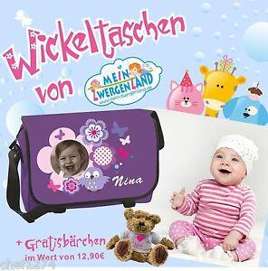 Wickeltasche-Name-Wunschmotiv-Baby-Gratis-Geschenk-Baerchen-Babytasche-Baer