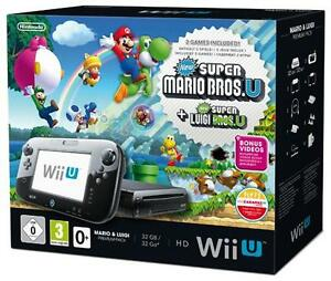 Wii-U-32GB-schwarz-Mario-Luigi-Bundle-Premium-Pack-Neu-und-OVP